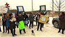 Manifestations contre la fin du tarif unique