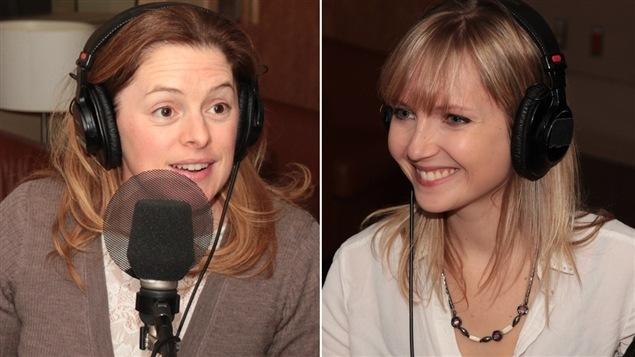 La comédienne Catherine Trudeau et l'auteure Chloé Varin