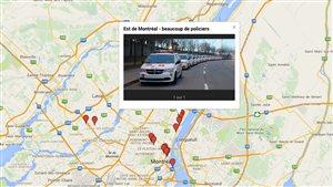 Consultez la carte des manifestations en temps réel