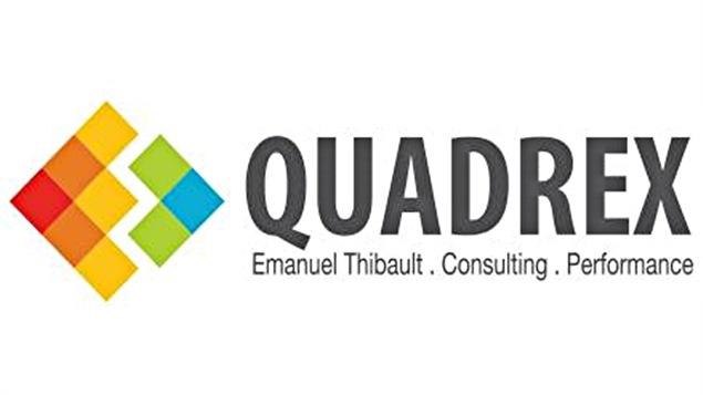 Le logo de l'entreprise d'Emanuel Thibault, Quadrex Consulting Performance.