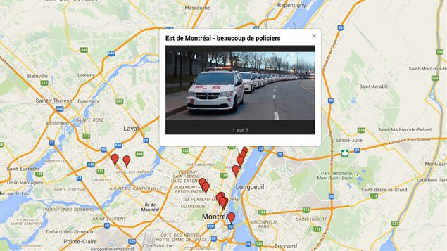 Carte interactive du « grand dérangement »