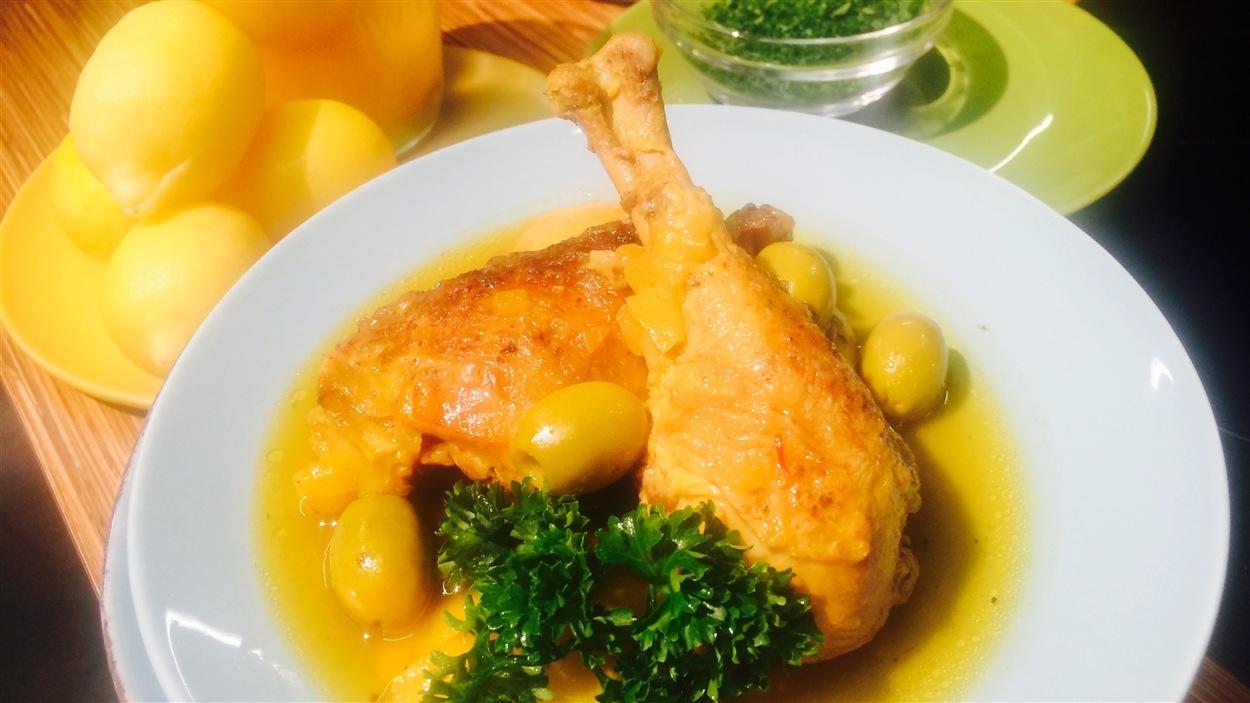 tajine express poulet olives et citron confit pour le. Black Bedroom Furniture Sets. Home Design Ideas