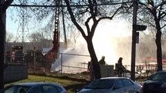 Délicate intervention des pompiers près de l'hôpital l'Enfant-Jésus