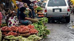 Un marché à Cotonou, capitale du Bénin.
