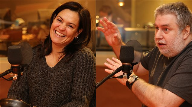 La comédienne Brigitte Poupart et le directeur artistique du Théâtre Urbi et Orbi, Yvan Bienvenue