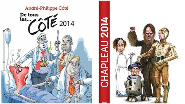 L'année en caricatures, rassemblées dans des recueils