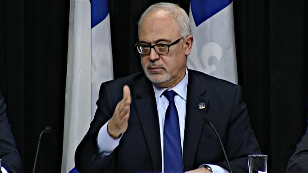 Carlos Leitao lors du dépôt de la mise à jour économique le mardi 2 décembre