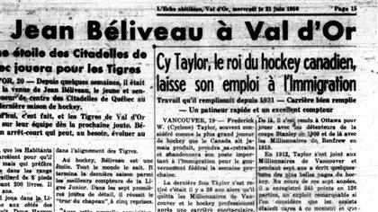 Jean Béliveau a été joueur de baseball... à Val-d'Or! - Radio-Canada