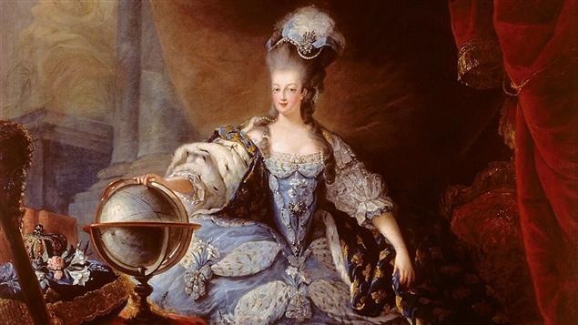 Portrait de Marie-Antoinette réalisé par Jean-Baptiste André Gautier-Dagoty, 1775
