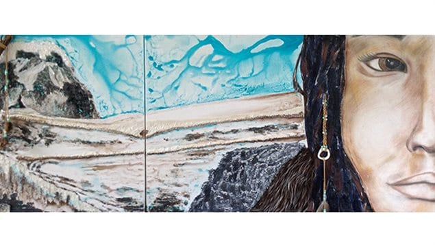 Portrait de femme. Oeuvre de Nancy Vincent et Rana Temsah exposé à la Galerie d'art/mp tres Art jusqu'au 31 décembre 2014.