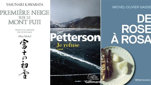Les couvertures des livres mentionnés lors du club de lecture du 8 décembre 2014.