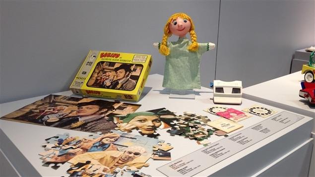 Quelques jouets de l'exposition <i>Dans mon temps... les jouets</i>, présentée au Musée québécois de la culture populaire, à Trois-Rivières.