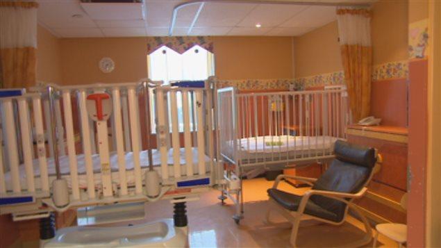Une chambre du département de pédiatrie