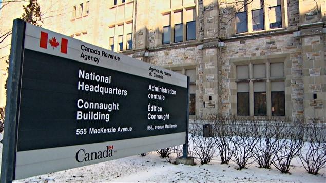 L'administration centrale de l'Agence du revenu du Canada, à Ottawa.