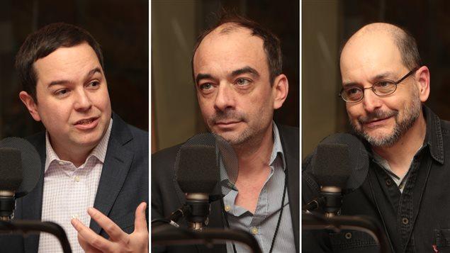 Gérald Fillion, Ianik Marcil et Benoît Melançon