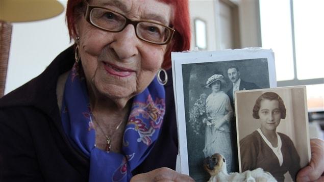 Mme Stengel, 97 ans, et ses parents