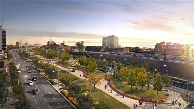 L'autoroute Bonaventure se transformera en boulevard urbain.