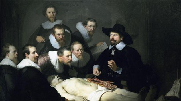 <i>La leçon d'anatomie du docteur Tulp</i>, de Rembrandt (1632).