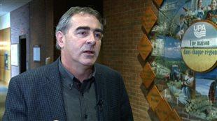 Marcel Groleau, président de l'Union des producteurs agricoles.