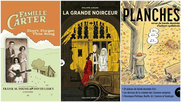Les couvertures des trois suggestions de Katerine Verebely