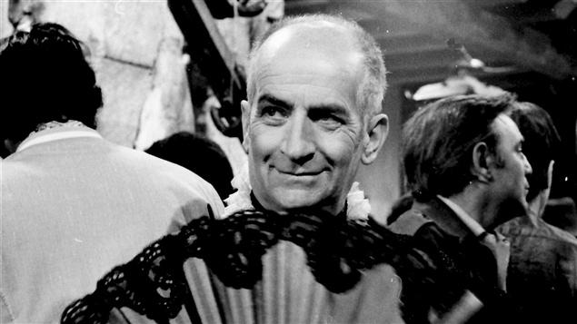 Louis de Funès lors du tournage du film <i>La folie des grandeurs</i> en 1972.