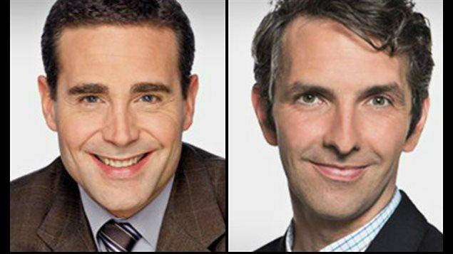 Christian Latreille (à gauche) et Yanik Dumont Baron (à droite), les deux correspondants de Radio-Canada à Washington