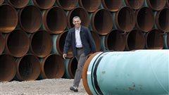 Le président américain Barack Obama, lors d'une visite dans un entrepôt de la société TransCanada à Cushing, en Oklahoma, en mars 2012.