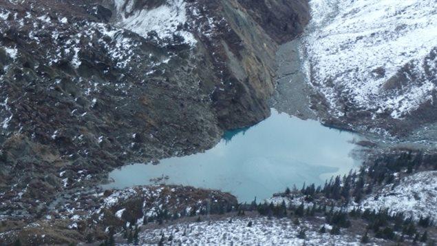 Un glissement de train crée un nouveau lac dans le parc national Kluane au Yukon