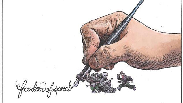 La caricature de Michael de Adder, qui sera publiée jeudi dans le Chronicle Herald d'Halifax