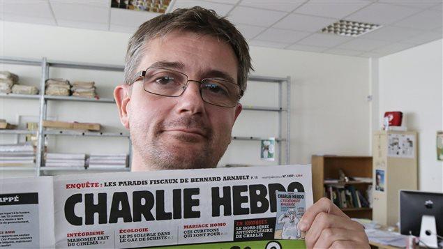 Le dessinateur Charb, en 2012