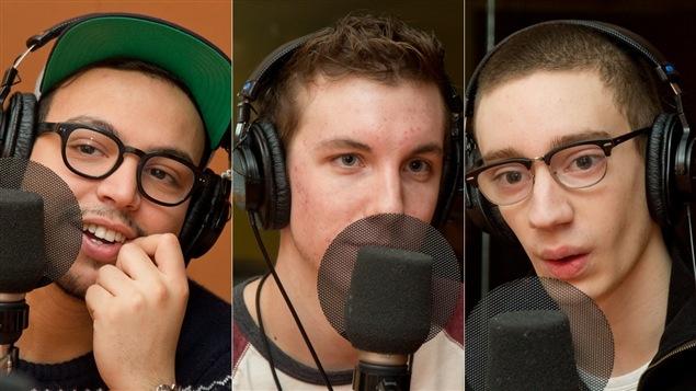 Les trois comédiens principaux de la nouvelle série <i>MED</i> : Mehdi Bousaidan, Pier-Luc Funk et Théodore Pellerin.