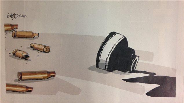 Caricature à la une du Globe And Mail