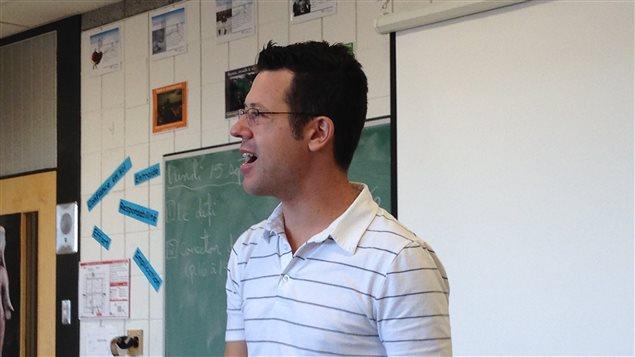 Hugo Lépine, professeur à l'école Père-Marquette.
