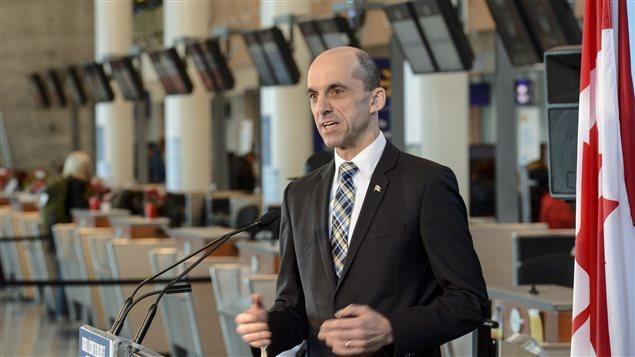 Steven Blaney, ministro canadiense de la Seguridad Pública y de la Protección Civil.