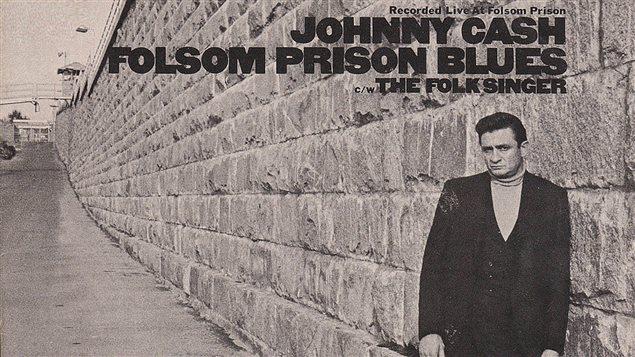 Image tirée de la pochette de l'album <em>Johnny Cash Folsom prison blues</em>