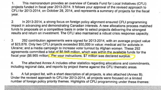 Canadas Foreign Affairs Minister John Baird Ordered Foreign Aid Cut