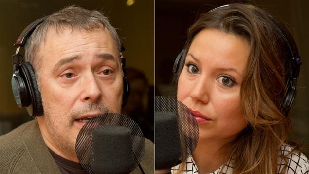 Le metteur en sc�ne Serge Denoncourt et la com�dienne Magalie L�pine-Blondeau
