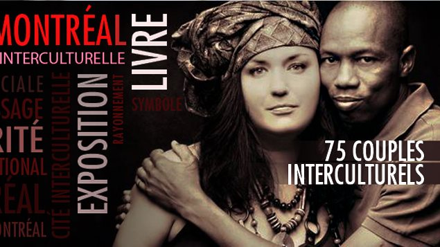 A Montreal woman and her husband from Senegal are the featured couple on the banner for 'Aime comme Montreal', a social media project for Montreal's 375th anniversary in 2017