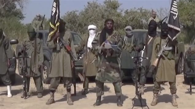 Image tirée d'une vidéo de Boko Haram, au Nigeria.