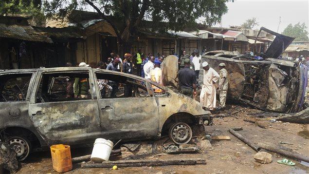 Un attentat à la bombe perpétré par Boko Haram en décembre 2014 à Gombe, au Nigeria