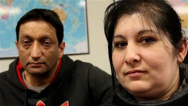 Dezso et Anasztazia Nemeth, les deux parents de la famille qui pourrait être séparée à cause de leur expulsion prévue le 28 janvier 2015