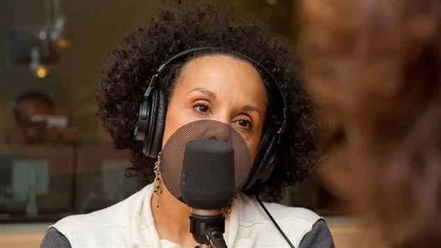 La chanteuse et concurrente de <i>La voix</i>, Sylvie Desgroseillers