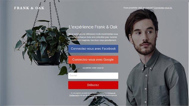La boutique pour homme Frank and Oak à Montréal a fait le pari de la vente en ligne.