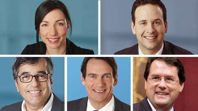 Les cinq candidats de la course à la direction du Parti québécois