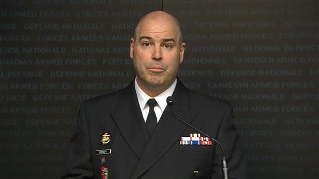 Le capitaine Paul Forget, du commandement des opérations interarmées du Canada