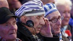 Des survivants du camp d'Auschwitz réunis sur le site pour le 70e anniversaire de la libération.