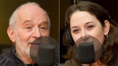 Isidore Trafikant, ancien « enfant caché », et la journaliste et auteure Mélanie Loisel