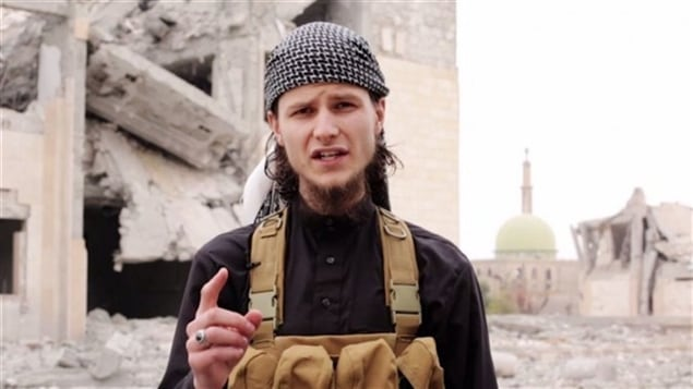 John Maguire, alias Abu Anwar al-Canadi, ancien étudiant de l'Université d'Ottawa, devenu djihadiste au sein du groupe armé État islamique.