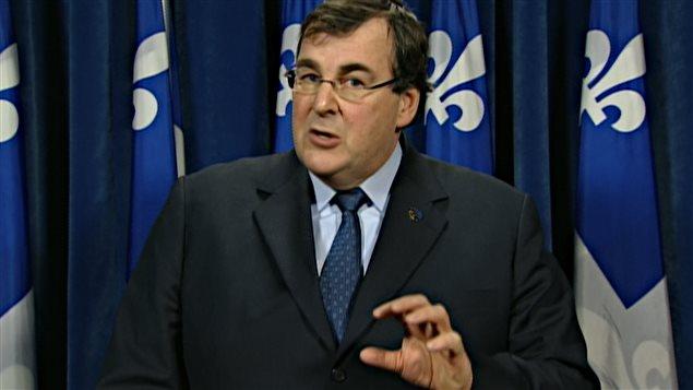 Le ministre de l'Emploi et de la Solidarité sociale François Blais