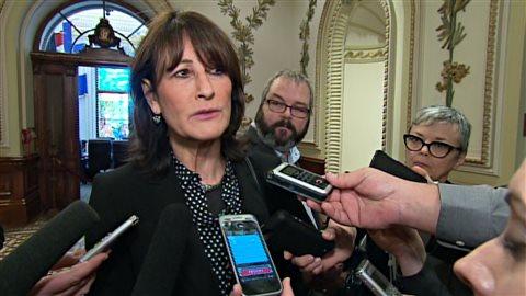La ministre Kathleen Weil hier dans la ville de Québec.